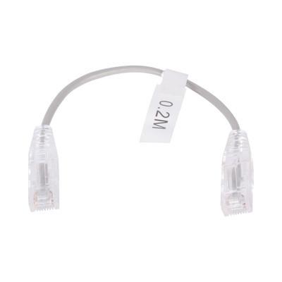 LINKEDPRO - LP-UT6-020-GY28 - Cable de Parcheo Slim UTP Cat6 - 20 cm Gris Diámetro Reducido (28 AWG)