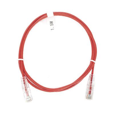 LINKEDPRO - LP-UT6-150-RD-28 - Cable de Parcheo Slim UTP Cat6 - 1.5 m Rojo Diámetro Reducido (28 AWG)