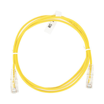 LINKEDPRO - LP-UT6-150-YE-28 - Cable de Parcheo Slim UTP Cat6 - 1.5 m Amarillo Diámetro Reducido (28 AWG)