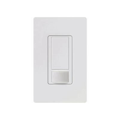 LUTRON ELECTRONICS - MS-OPS2-WH - Apagador y sensor de movimiento para espacios pequeños depósitos armario vestidores alacena cocina lavandería etc.