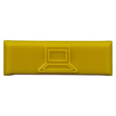 PANDUIT - CIDYL-C - Paquete de 100 Iconos de Datos de Instalación a Presión Para Jacks Mini-Com de Panduit De Plástico Color Amarillo