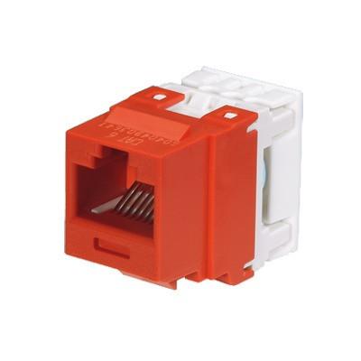 PANDUIT - NK688MRD - Conector Jack Estilo 110 (de Impacto) Tipo Keystone Categoría 6 de 8 posiciones y 8 cables Color Rojo