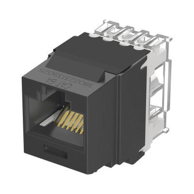 PANDUIT - NK6X88MBL - Conector Jack Estilo 110 (de Impacto) Tipo Keystone Categoría 6A de 8 posiciones y 8 cables Color Negro