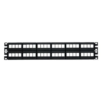 PANDUIT - NKFP48Y - Panel de Parcheo Modular Keystone (Sin Conectores) de 48 Puertos Identificación con Etiqueta Adhesiva 2UR