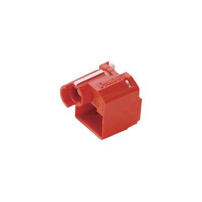 PANDUIT - PSL-DCPLRX - Kit de 10 Dispositivos para Impedir Desconexión de Plug RJ45 Color Rojo Incluye Herramienta para Instalar/Retirar