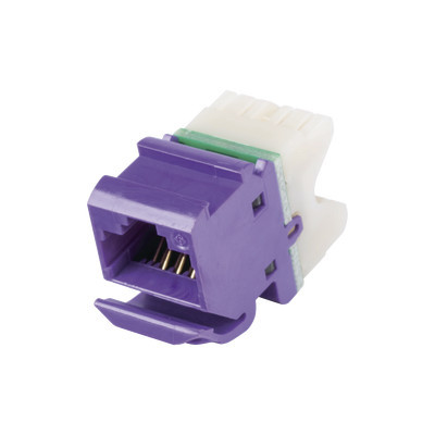 SIEMON - MX608 - Jack MAX UTP Categoría 6 Estilo 110 Montaje Angulado Color Violeta