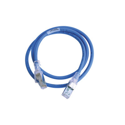 SIEMON - ZM6A-S03-06 - Patch Cord Z-MAX Cat6A S/FTP CM/LS0H 3ft Color Azul