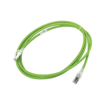 SIEMON - ZM6A-S07-07B - Patch Cord Z-MAX Cat6A S/FTP CM/LS0H 7ft Color Verde Versión Bulk (Sin Empaque Individual)