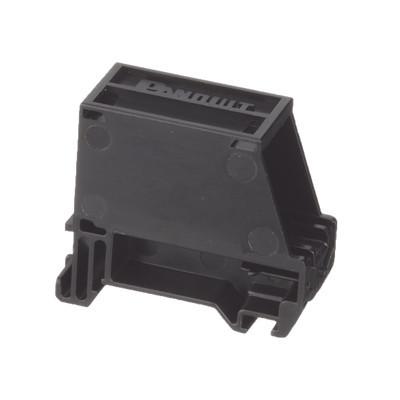 PANDUIT - CADIN1BL-S - Adaptador de 1 Puerto Para Conectores Tipo Mini-Com Blindado Montaje en Riel Din Estándar de 35mm Color Negro
