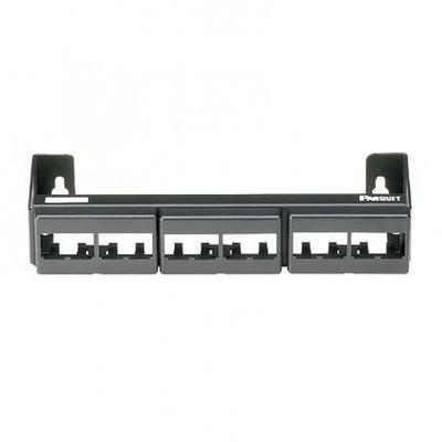 PANDUIT - CWPP12WBL - Panel de Parcheo Modular (Sin Conectores) de 12 Puertos Mini-Com Instalación en Pared con Montaje Incluido Color Negro