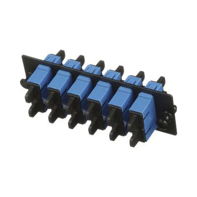 PANDUIT - FAP6WBUDSCZ - Placa Acopladora de Fibra Optica FAP Con 6 Conectores SC Duplex (12 Fibras) Para Fibra Monomodo OS1/OS2 Color Azul