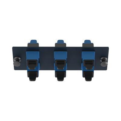 PANDUIT - FAP6WBUSCZ - Placa Acopladora de Fibra Optica FAP Con 6 Conectores SC Simplex (6 Fibras) Para Fibra Monomodo OS1/OS2 Color Azul