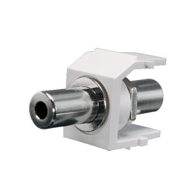 """PANDUIT - NK35MSCIW - Módulo Acoplador Estéreo de 3.5mm (1/8"""") Tipo Keystone de Paso Color Blanco Mate"""