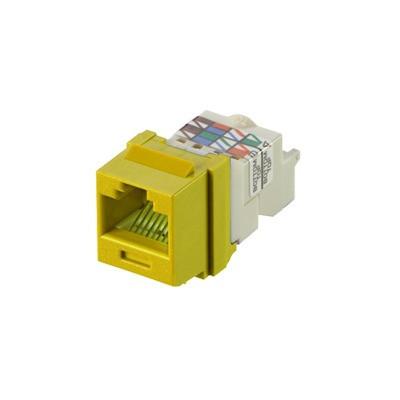 PANDUIT - NK6TMYL - Conector Jack Estilo TP Tipo Keystone Categoría 6 de 8 posiciones y 8 cables Color Amarillo