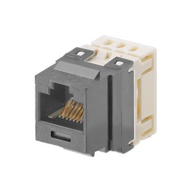 PANDUIT - NKP5E88MIG - Conector Jack Estilo 110 (de Impacto) Tipo Keystone Categoría 5e de 8 posiciones y 8 cables Color Gris