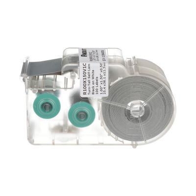 PANDUIT - R100X150V1C - Casete de 100 Etiquetas Autolaminadas Turn-Tell Con Rotación para Mejor Visibilidad para Cables de Redes de Cobre o Fibra Óptica de 5.5 a 7.1 mm de Diámetro
