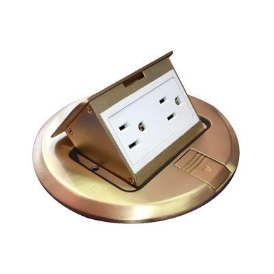 THORSMAN - TH-MCPR-B - Mini caja de piso redonda de 2 contactos color bronce (11000-12101)