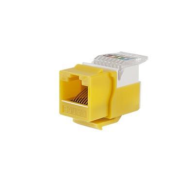LINKEDPRO - LP-KJ-516-YE - Módulo Jack Keystone Cat5e sin Herramienta (toolless) para faceplate - Color Amarillo