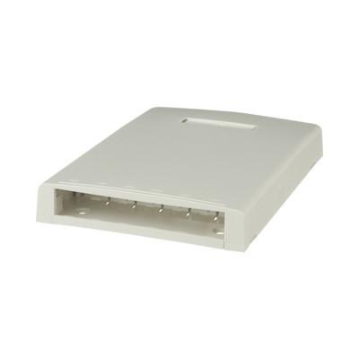 PANDUIT - CBXF6IW-AY - Caja de Montaje en Superficie Con Accesorio para Resguardo de Fibra Óptica Para 6 Módulos Mini-Com Color Blanco Mate