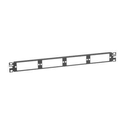 PANDUIT - CFAPPBL1 - Patch Panel de Fibra Óptica Para 4 Placas Acopladras FAP o FMP Color Negro 1UR