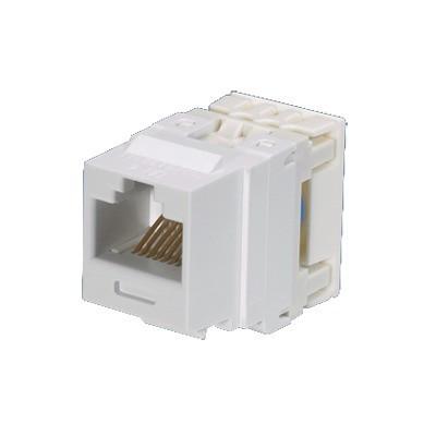 PANDUIT - NK688MEI - Conector Jack Estilo 110 (de Impacto) Tipo Keystone Categoría 6 de 8 posiciones y 8 cables Color Marfil