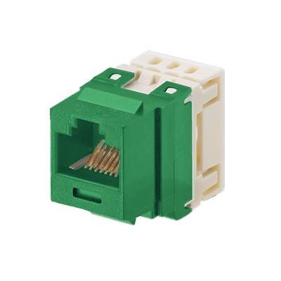 PANDUIT - NKP5E88MGR - Conector Jack Estilo 110 (de Impacto) Tipo Keystone Categoría 5e de 8 posiciones y 8 cables Color Verde
