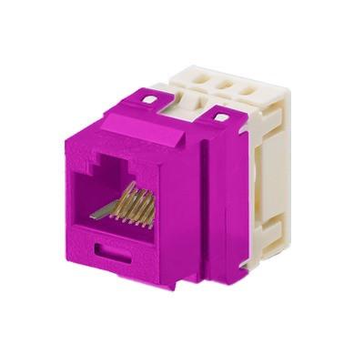 PANDUIT - NKP5E88MVL - Conector Jack Estilo 110 (de Impacto) Tipo Keystone Categoría 5e de 8 posiciones y 8 cables Color Violeta