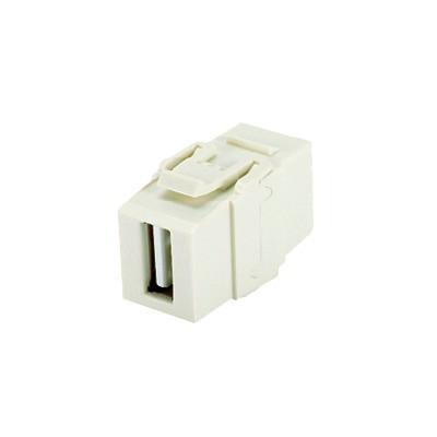 PANDUIT - NKUSBAAIW - Módulo Acoplador USB 2.0 Hembra a Hembra Tipo Keystone Color Blanco Mate