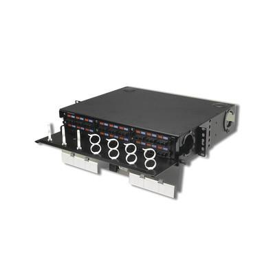 SIEMON - RIC3-36-01 - Panel de Conexión de Fibra Óptica (RIC3) Para Rack de 19in Acepta 6 Placas Quick Pack Hasta 144 Fibras 2 UR