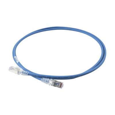 """SIEMON - SP6A-S05-06 - Patch Cord """"Skinny"""" Cat6A Blindado S/FTP 5ft Diámetro Reducido 28 AWG Color Azul"""
