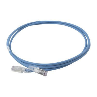 """SIEMON - SP6A-S07-06 - Patch Cord """"Skinny"""" Cat6A Blindado S/FTP 7ft Diámetro Reducido 28 AWG Color Azul"""
