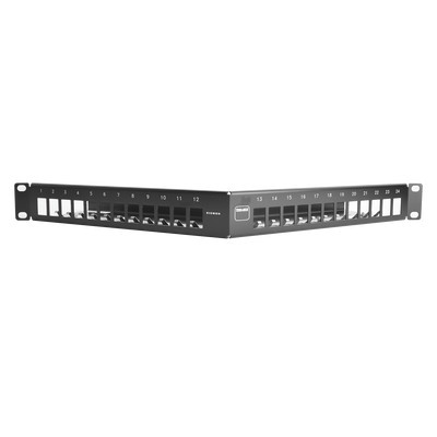 SIEMON - TMPNLZA2401 - Patch Panel TERA-MAX de 24 Puertos Modular Angulado Color Negro 1UR