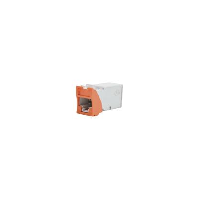 SIEMON - Z6-09 - Jack Z-MAX UTP Categoría 6 Montaje híbrido en Placa de Pared (Plano y Angulado) Color Naranja