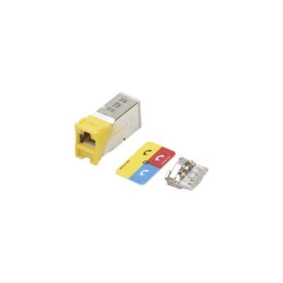 SIEMON - Z6A-S05 - Jack Z-MAX Cat6A Blindado Montaje híbrido en Placa de Pared (Plano y Angulado) Color Amarillo