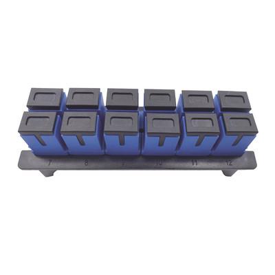 LINKEDPRO - LP-FO-S12-SM - Placa acopladora para Distribuidor de Fibra Óptica LP-ODF-8024 incluye 12 acopladores SC Simplex Para fibra Monomodo (12 fibras)