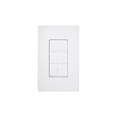 LUTRON ELECTRONICS - CA-6PF-WH - Caja de pared para contactos varios 6 mini espacios.