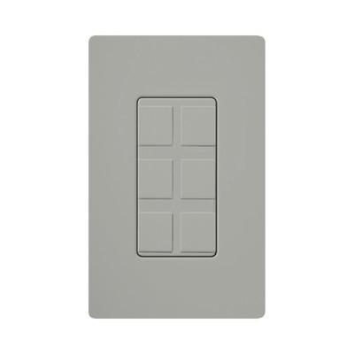 LUTRON ELECTRONICS - CA6PFGR - Placa de 6 puertos color gris