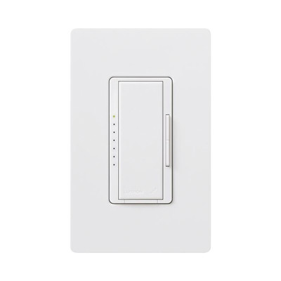 LUTRON ELECTRONICS - RRDPROWH - Atenuador Dimmer PRO para linea RadioRa2 y RA2 Select el cable neutro es opcional 250W LED / CFL