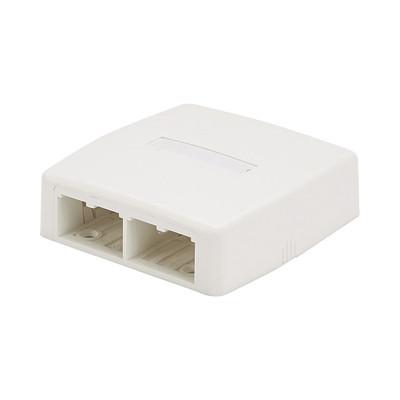 PANDUIT - CBXQ4IW-A - Caja de Montaje en Superficie Para 4 Módulos Mini-Com Color Blanco Mate
