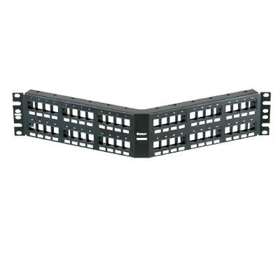 PANDUIT - NKPPA48FMY - Panel de Parcheo Modular Keystone (Sin Conectores) Angulado de 48 Puertos 2UR