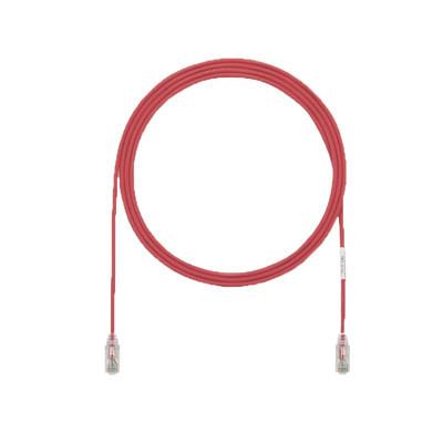 PANDUIT - UTP28X5RD - Cable de Parcheo UTP Cat6A CM/LSZH Diámetro Reducido (28AWG) Color Rojo 5ft