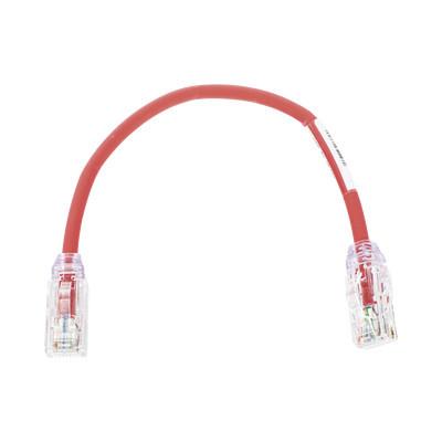 PANDUIT - UTP28X8INRD - Cable de Parcheo UTP Cat6A Diámetro Reducido (28 AWG) CM/LSZH Color Rojo 8in (20.3cm)