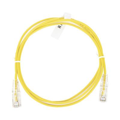 LINKEDPRO - LP-UT6-100-YE-28 - Cable de Parcheo Slim UTP Cat6 - 1 metro Amarillo Diámetro Reducido (28 AWG)