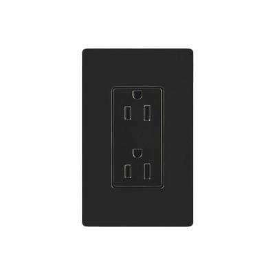 LUTRON ELECTRONICS - CAR-15-BL-S - Tomacorriente receptaculo convencional 120V 15A color negro.