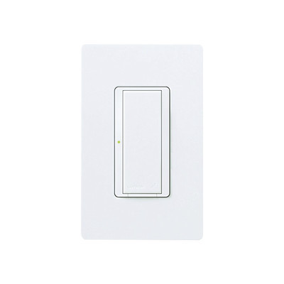 LUTRON ELECTRONICS - MRF2S8SDVWH - Switch interruptor on/off 8A iluminacion 1/10HP fan @120V 120-277 V no requiere cable neutro.