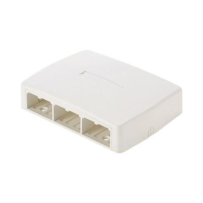 PANDUIT - CBXQ6IW-A - Caja de Montaje en Superficie Para 6 Módulos Mini-Com Color Blanco Mate