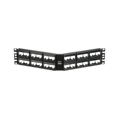 PANDUIT - CPPLA48WBLY - Panel de Parcheo Modular Mini-Com (Sin Conectores) Angulado Sin Blindaje Con Etiqueta y Cubierta de 48 puertos 2UR