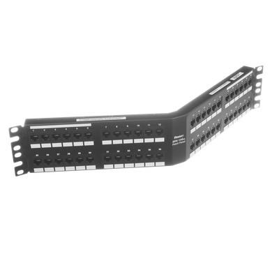 PANDUIT - DPA486X88TGY - Panel de Parcheo de Impacto (110) Angulado Categoría 6A de 48 Puertos 2UR