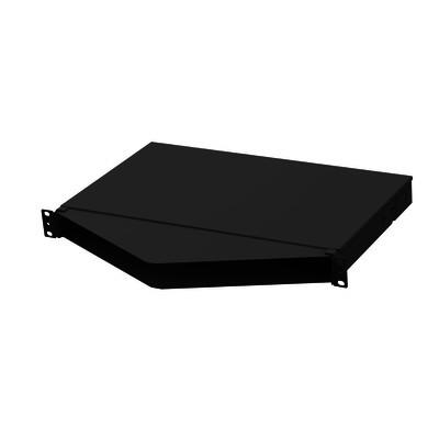 PANDUIT - FMT1A - Panel de Distribución de Fibra Óptica Acepta 4 Casetes QuickNet o Placas FAP/FMP con Panel CFAPPBL1A (No Incluido) Bandeja Fija Angulado Hasta 96 Fibras Color Negro 1UR
