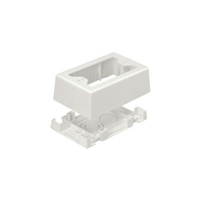 PANDUIT - JBX3510IW-A - Caja de Pared Superficial uso Universal con Placas de Pared Con Cinta Adhesiva Color Blanco Mate